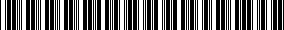Barcode for 000061126A041